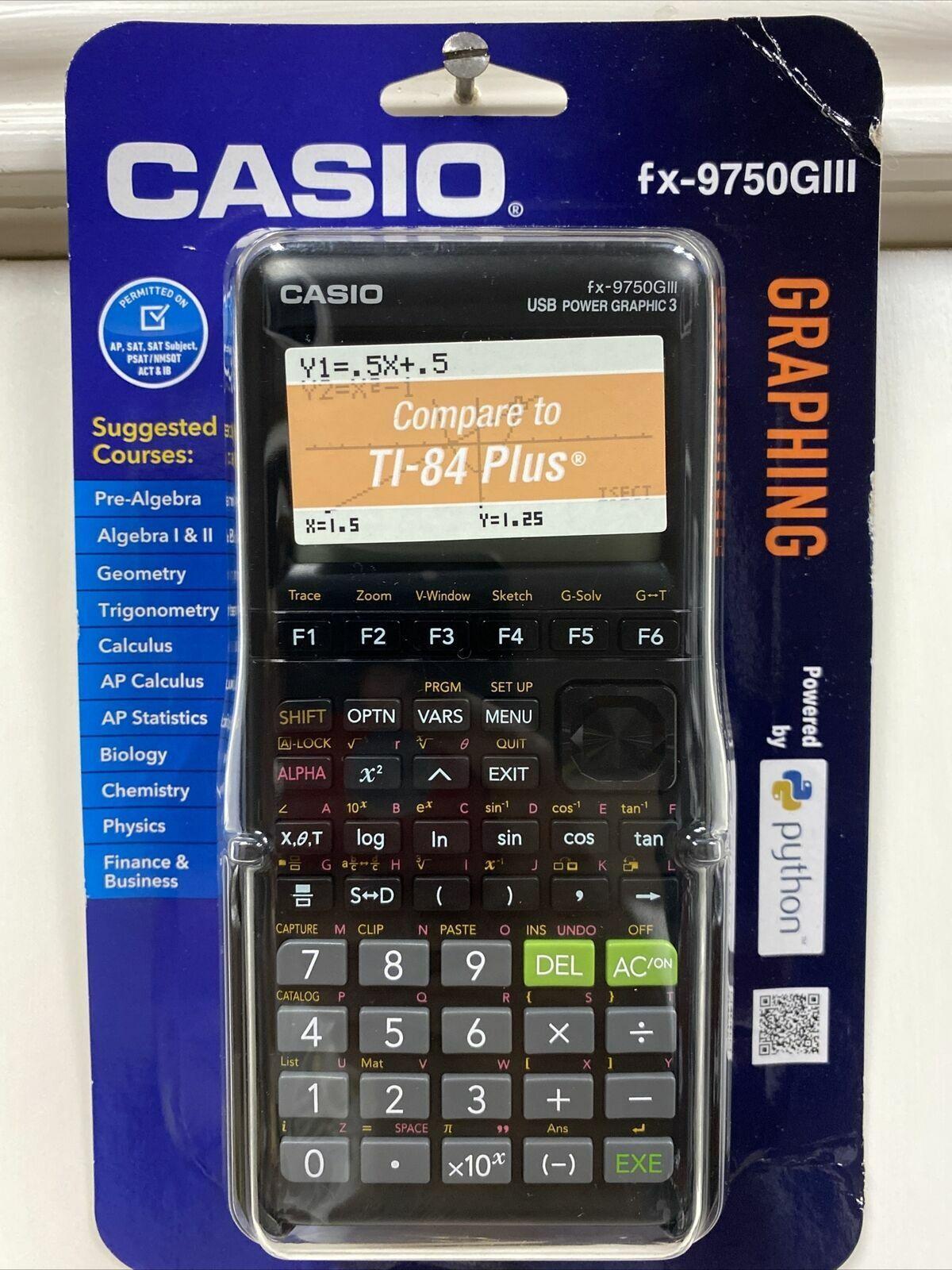 Casio fx-9750GIII Graphing Calculator Python White/Black Bra