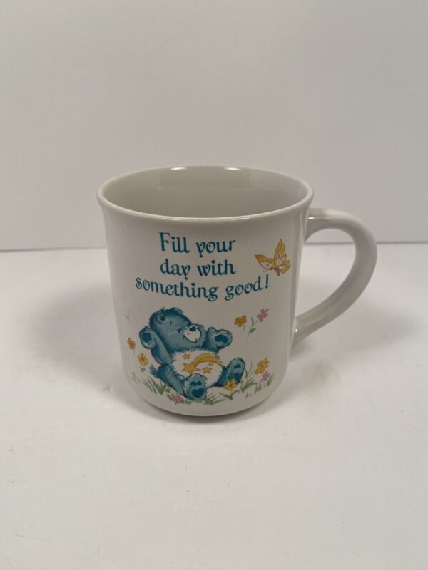 Vintage 1983 Care Bears WISH BEAR Star Stars Coffee Cup Mug American Greetings