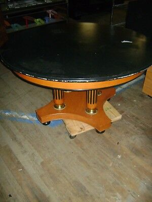 Retail Store Display 54 Round Black Brown Table Foyer Table