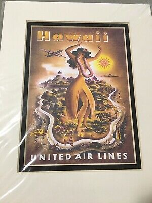 Hawaii United Airlines (United Airlines ( Hawaii ) Collector's Travel Poster)