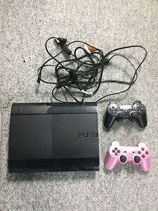 PS3 with controllers  Cambridge Kitchener Area image 1