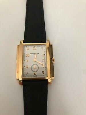 Patek Philippe 18k Yellow Gold Silver Arabic Dial Gondolo Men's Watch 5024J-001
