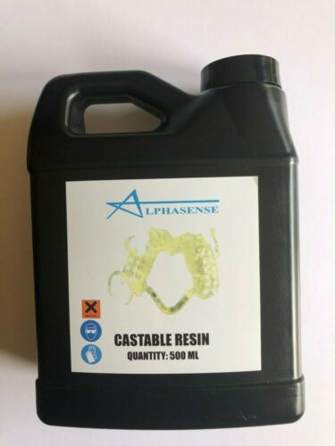 ALPHASENSE 3D CASTABLE RESIN FOR DENTAL AND JEWELRY  APPLICATIONS(500ML)