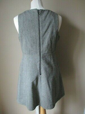 Tbe ! superbe robe tweed gris superdry taille large...40... zippée dos