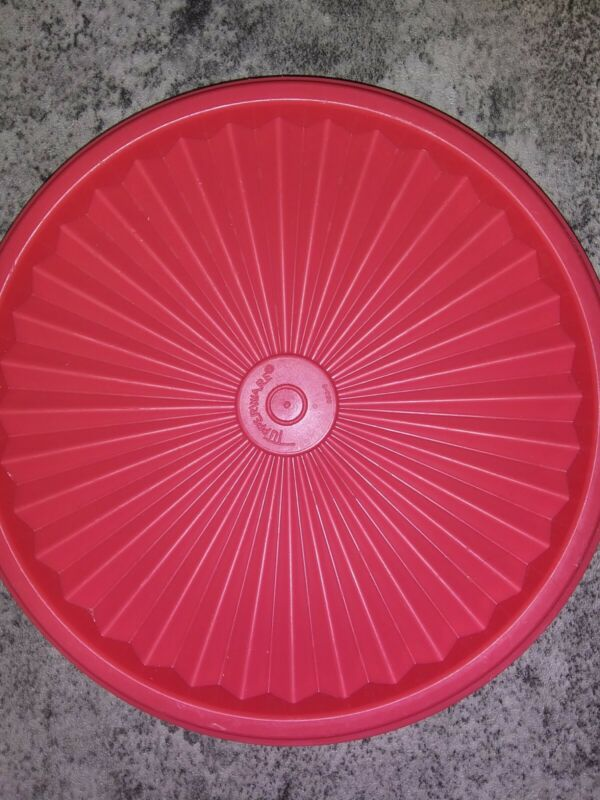 Tupperware #808 Pink Round Replacement Lid New