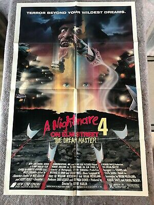 "A NIGHTMARE ON ELM STREET 4 1988 ORIGINAL 1 SHEET MOVIE POSTER 27""x41"" (F/VF-)"
