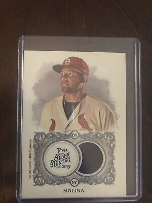 2019 Topps Allen & Ginter Yadier Molina Patch Relic Game Used Memorabilia
