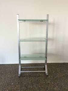 3 shelf wall unit / metal and glass bookcase / bookshelf display Emu Heights Penrith Area Preview