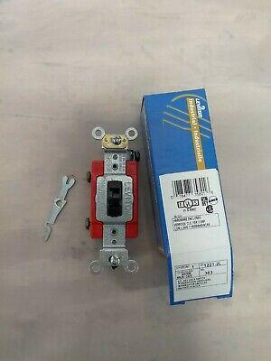 Leviton 1221-2l - 20 A 120277v Industrial Heavy Duty Locking Toggle Switch