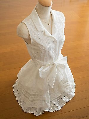 LIZ LISA Button down Soft Flared Ribbon Setup Dress Sukapan Hime Sweet Lolita