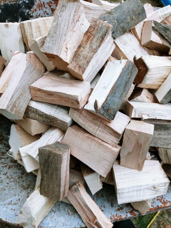 Sugar Maple Wood Chunks for Smoking Meat Grilling, BBQ 10x12x8 box around 12lb