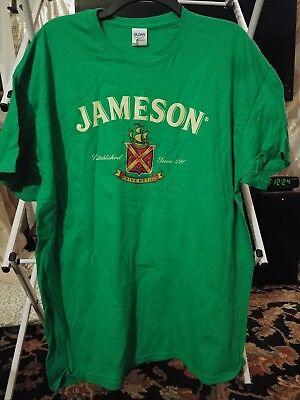 Jameson Irish Whiskey Green Tshirt MENS L Fruit of the Loom Heavy Duty
