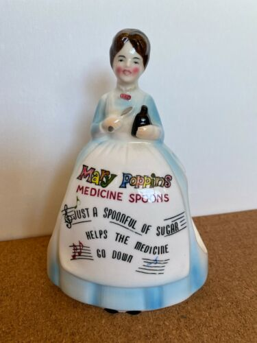 Walt Disney Productions Mary Poppins Ceramic Figurine Enesco 1964 Medicine Spoon
