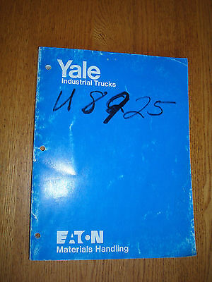 Eaton Yale Operation And Parts Manual Erch Electric Fork Lift Trucks 1980