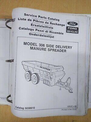 New Holland Model 306 Side Delivery Manure Spreader Service Parts Catalog