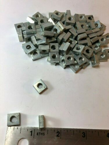 1/4-20 Square Nut Zinc Plated Steel Coarse Thread QTY-100