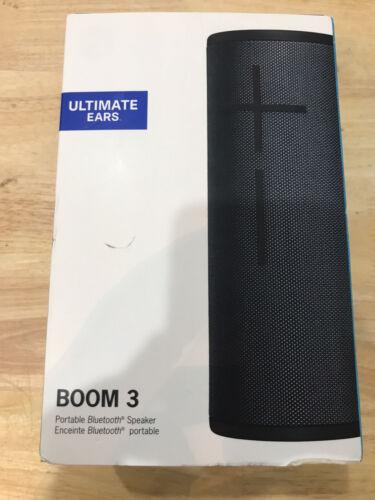 UE BOOM 3 Night Black Bluetooth Wireless Speaker Portable Du