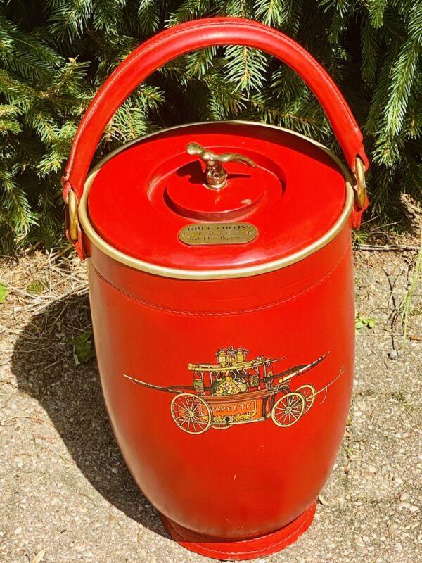 Vintage Loyal Leather Fire Ice Bar Bucket Oradell Fire MCM Manhattan 60