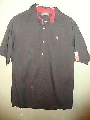 McDonalds Official Employee Uniform Shirt MC332 Size XS Black Embroidered Logo