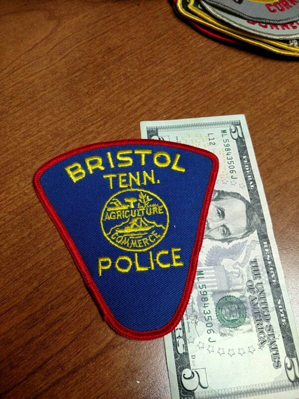 Bristol Tennessee Police Department Patch New Old Stock