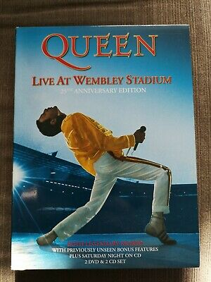 Queen - Live At Wembley Stadium Deluxe 2 DVD & 2 CD Edition New & Sealed