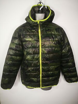 MENS ADMIRAL GREEN BRITISH CAMO PADDED PUFFER JACKET COAT SIZE LARGE L