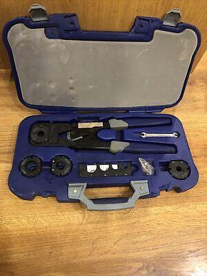 Kobalt Multi Head Pex Crimper Industrial Heavy Duty Master Kit 38 - 1 Case