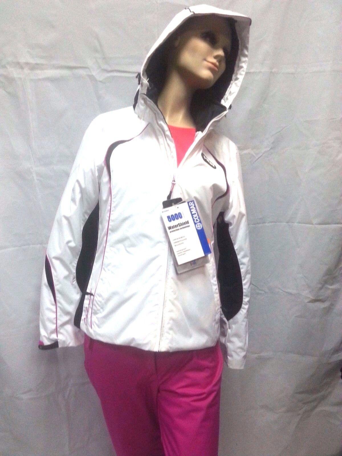 completo sci donna colmar tuta neve giacca e pantalone 2064s jewel bianco/fuxia