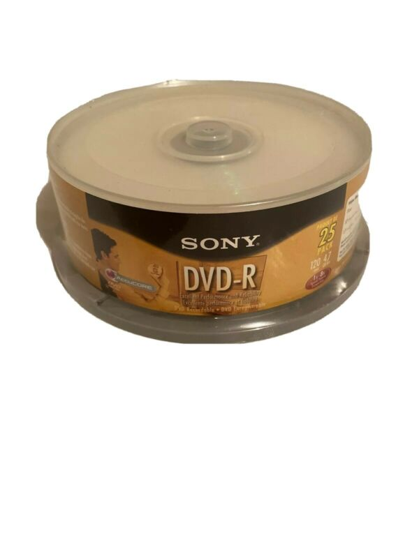 Sony Dvd-r 25 pack 120 min. 4.7 GB/Go 1-16X New Sealed Free Shipping