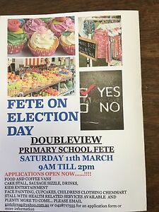 Stall holders wanted for our Fete Doubleview Stirling Area Preview