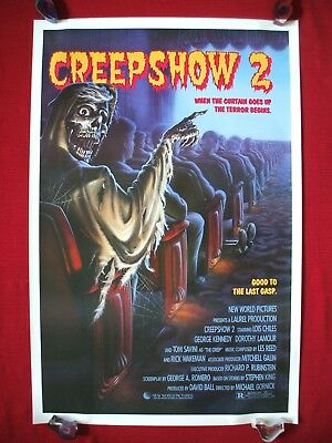 CREEPSHOW 2 *1987 ORIGINAL MOVIE POSTER TOM SAVINI GEORGE A. ROMERO HALLOWEEN NM
