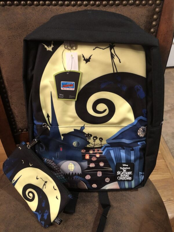 Nightmare Before Christmas Backpack Pencil Case Loungefly EXCLUSIVE NYCC 2018