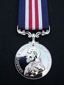 BRITISH-ARMY-SAS-RAF-RM-SBS-GV-Bravery-In-Field-WW1-Military-Medal-MM-Ribbon