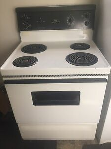 Electric range, toaster oven and matress