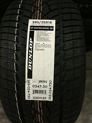 2 New 285 35 18 Dunlop SP Winter Sport 3D Snow Tires