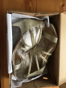Sparkle golden party sandals, size 38