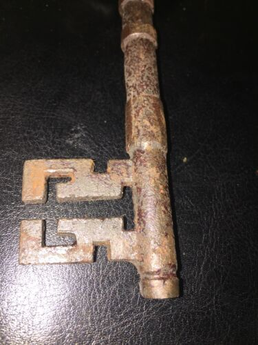 Victorian Master Door Iron Skeleton Key Vintage Antique style Heavy Cast 3 Left!