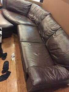 Leather sofa 3pcs. Dresser moving away!!