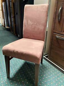 Set Of 8 Mushroom Coloured Dining Chairs