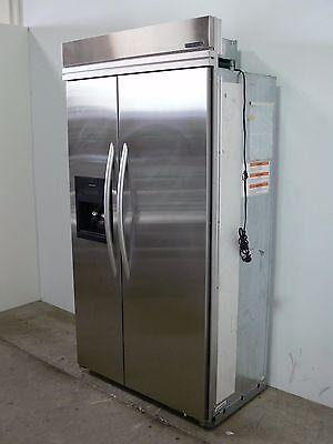 """KITCHEN AID KSSC42QMS01 Built In 42"""" Stainless Steel Refrigerator & Freezer"""