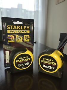 fat max Stanley tape x2 8m/26'