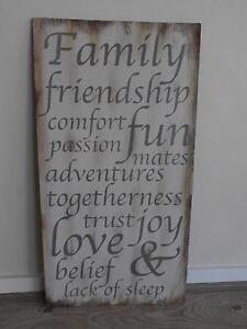 SAYING OF WORDS FAMILY FRIENDSHIP COMFORT ETC Pimpama Gold Coast North Preview