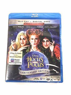 Hocus Pocus Anniversary Edition Blu-ray + Digital Code Halloween Classic -New!