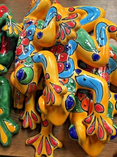 TALAVERA MEXICAN POTTER - ANIMALS - FROGS  Set of 3 **FREE SHIP**