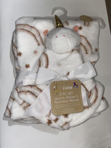 Baby Security Blanket Plush Unicorn Blanket 2 PC Set - $17.00