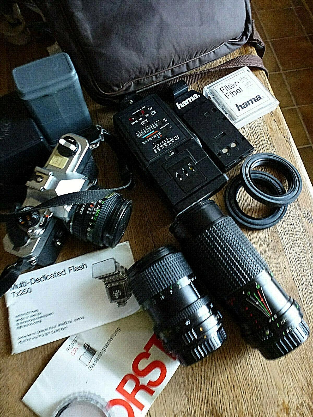 Photo-Porst Spiegelreflex-Kamera CR1  mit viel Zubehör für den Fotofreak
