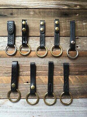 Tex Shoemaker 81 82 Leather Police Duty Baton Holder 1 12 Diameter Ring