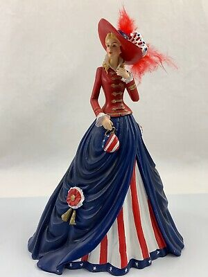 patriotic Lady O! Say Can You See Fig Patriotism Is Always In Fashion T. Kinkade