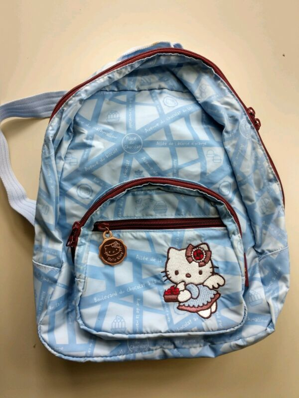 Sanrio Hello Kitty Mini Backpack Purse Lined Vintage 2003 Blue Bag Rare