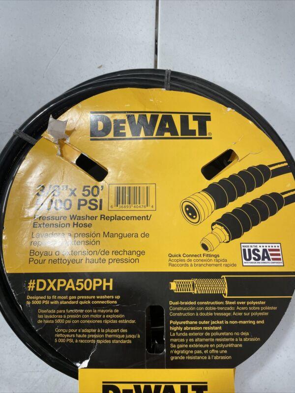 DeWalt Pressure Washer Extension Hose 50ft x 3/8in 5000 PSI DXPA50PH